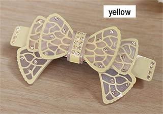 Buttefly Acrylic Rhinestone Wedding Bridal Hair Accessories Jewelry Ornament Barrette Tiara Pin Clip Australia For Women Braids Yellow