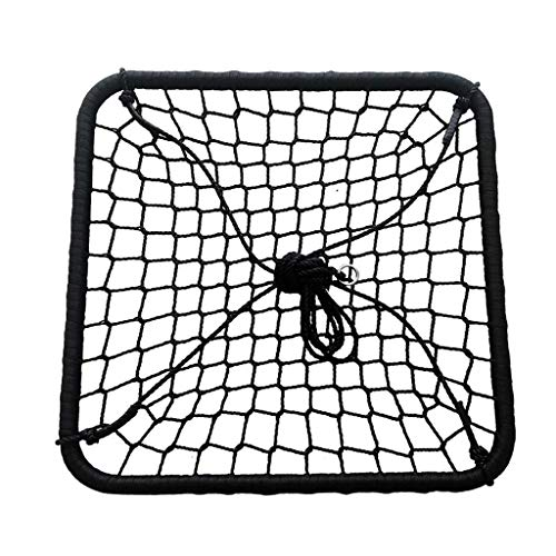 SGSG Große quadratische Schaukel, Spinnennetz-Veranda im Innen- und Außenbereich oder Baumseilschaukel, ideal für Baum, Schaukel, Garten, Spielplatz, Spielzimmer - Zubehör inklusive