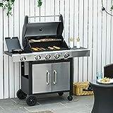 Zoom IMG-1 outsunny barbecue gas con coperchio