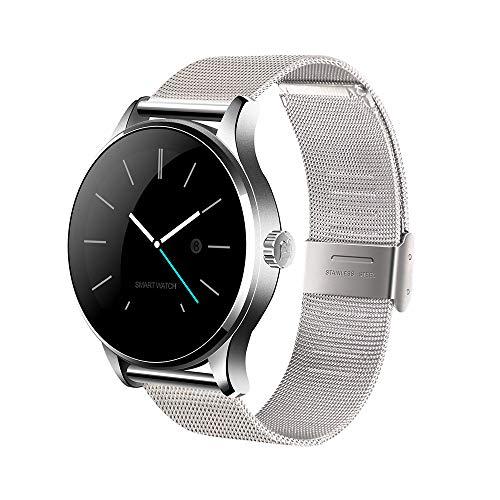 Heomeyb K88H Bluetooth Smart Watch MTK2502 Sprachsteuerung Smartwatch Die wasserdichte Smart Clock Mit Leistungsstarkem Batterie-Schrittzähler,A