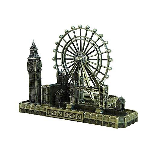 Modello London Eye Big Ben Tower Bridge in Metallo Edificio della Chiesa Souvenir Memoriale Stile Europeo Decorazione della Casa