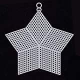 Needlework Canvas,JUSTDOLIFE 12PCS Needlepoint Canvas Star Shape Plastic Canvas Blank Canvas for DIY Craft
