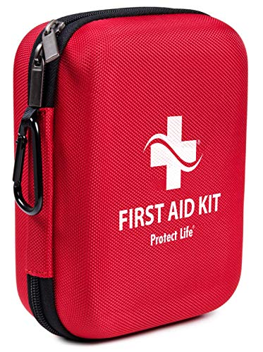 First Aid Kit - 200 Piece - for Car, Home, Outdoors, Sports, Camping, Hiking or Office | Red Case Fully Packed with Emergency Supplies