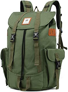 Outdoor Multi-Function Backpack Camping Backpack Bag Laptop Fashion Large-Capacity Leisure Travel Bag QDDSP (Color : Green)