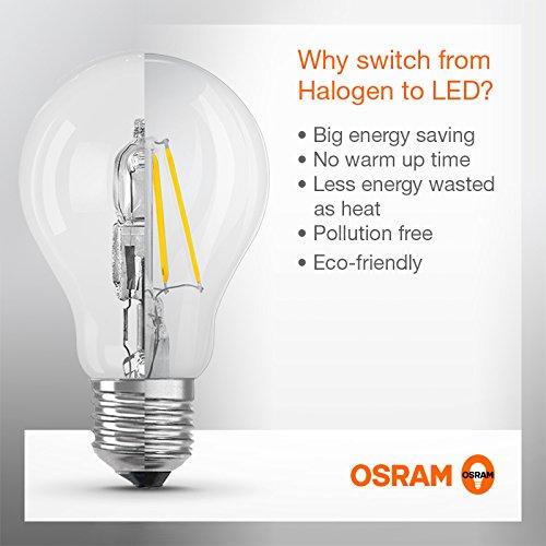 Osram LED Superstar Classic A, in Kolbenform mit E27-Sockel, Dimmbar, Ersetzt 60 Watt, Filamentstil Klar, Warmweiß – 2700 Kelvin, 1er-Pack - 3