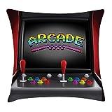 LanDu - Funda de cojín para Videojuegos, diseño Retro de los años 80 y 90, 45,7 x 45,7 cm