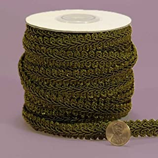 6939 D/ÉCOPRO 10 Yard Value Pack of Large Beige 30 Ft // 9 Meters Champagne Baroque Collection 7//16 inch Decorative Cord Without Lip Style# 716BNL Color: Winter Meadow Olive Green