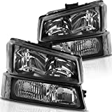 AUTOSAVER88 Headlight Assembly kit Compatible with 2003-2006 Chevy Avalanche /...