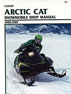 Clymer Arctic Cat Snowmobile Shop Manual 1988-1989: Service, Repair, Maintenance (Clymer Snowmobile Repair Series)