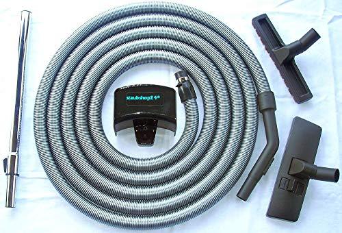 staubshop24-9,0 Meter Standard Schlauch Set für DISAN Zentralstaubsauger geeignet, Anschluss an Saugdose 36-38mm Durchmesser