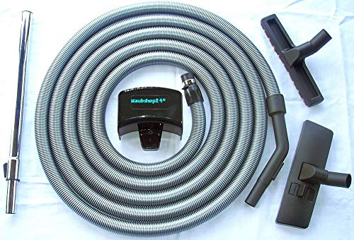 staubshop24-9,0 Meter Standard Schlauch Set für FAWAS Zentralstaubsauger geeignet, Anschluss an Saugdose 36-38mm Durchmesser