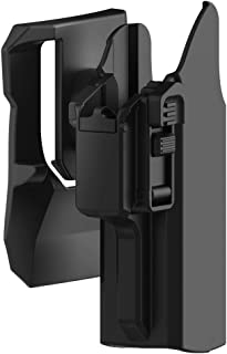 TEGE Universal OWB Holster Glock 17 19 19X 45 Outside Waistband Paddle Holster Fits S&W M&P 9MM Springfield XD Beretta 92fs Full Size Pistols, 360° Adjustable Draw Angle Tactical Holster, RH