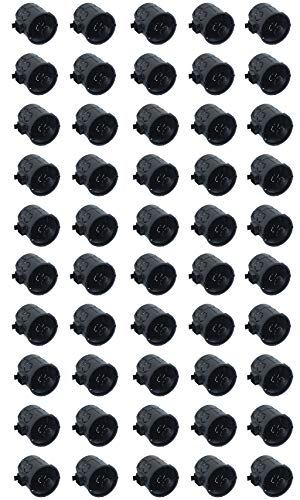Meister Schalterdose Unterputz - 60 mm tief - schwarz - 50 Stück - 60 mm Durchmesser - Zum Einbau von Schaltern & Steckdosen / Unterputzdose mit Tunnelstutzen / Gerätedose / Abzweigdose / 7460140