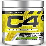C4 Original - Suplemento en polvo para preentrenamiento - Manzana verde | Bebida energética para antes de entrenar | 150mg de cafeína + beta alanina + monohidrato de creatina | 30 raciones