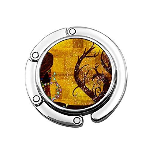 Gustav Klimt składany uchwyt do portfela, wieszak na torebkę hak na stół biurko