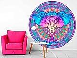 Vinilo Decorativo Pared Mandala Cabeza Elefante |...