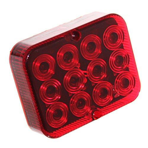 1x LED Nebelschluß-Leuchte Beleuchtung 12V für Trailer Anhänger KfZ Nebellampe Nebelleuchte Rot [A++] Neu Old-Harvest
