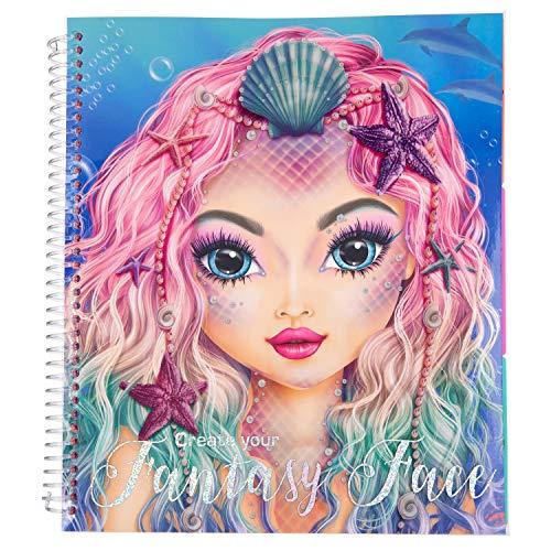 Depesche 10440 Livre De Coloriage Topmodel Pour Creer Votre Visage Fantastique Environ 24 X 21 8 X 1 8 Cm Multicolore