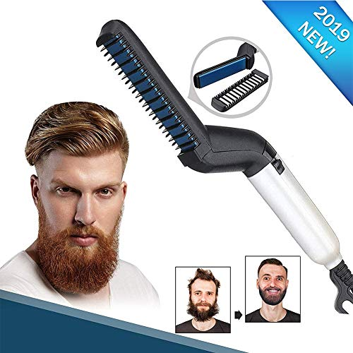 Planchas para el pelo Comb Beard Hair Straightening Brush Men's Quick Curling Straightening Comb Multifunctional Electric Hair Comb Quick Hair Styler for Men