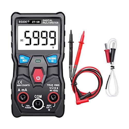 Kshzmoto ZT-5B 6000 Zählt hochpräzises NCV-Test Digitales Smart-Multimeter mit BT-Funktion Echter RMS-Universal-Tester Messung der DC/AC-Spannung DC/AC-Stromwiderstand Kapazität Frequenzdiode und