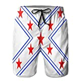 Beach Shorts Mens Red Stars Exist in A Large Blue Funny X Summer Quick-Drying Swim Trunks/XL