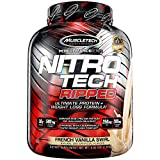 Protein Powder for Weight Loss | MuscleTech Nitro-Tech Ripped | Lean Whey Protein Powder | Whey Protein Isolate | Weight Loss Protein Powder for Women & Men | Vanilla, 4 lbs (42 Servings)