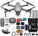 DJI Mavic 2 PRO Drone Quadcopter, with ND, Cpl Lens Filters, Waterproof Hard Case and Backpack, 64GB SD Card, with Hasselblad Video Camera Gimbal Bundle Kit with Must Have Accessories