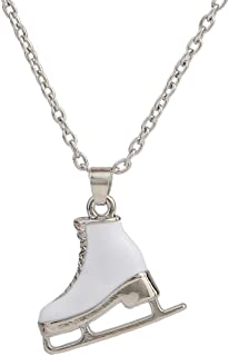 3D Adorable Ice Skate Charm Double-sided Pendant Necklace For Girls women