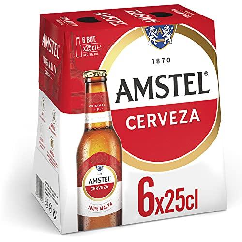 Amstel Cerveza, Pack de 6 x 25cl