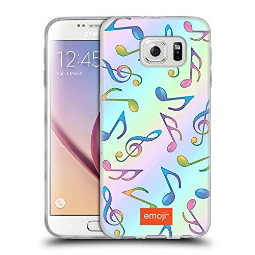 Head Case Designs Oficial Emoji Al Azar Patrones Musicales Carcasa de Gel de Silicona Compatible con Samsung Galaxy S6