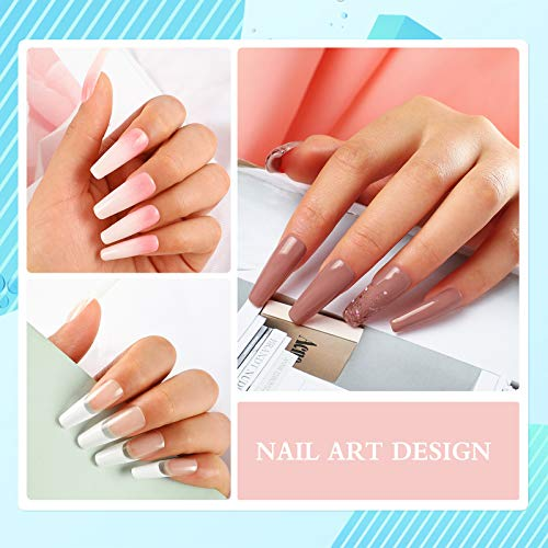 4 Colors Poly Nail Gel Kit with 36W LED...