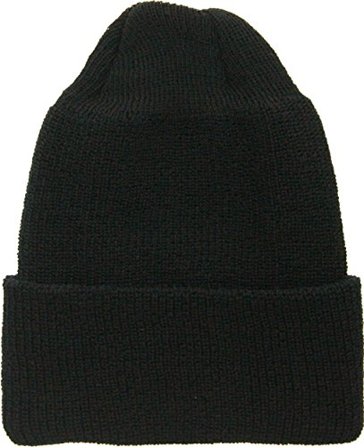 ARMYU Military Genuine GI Winter USN Warm Wool Hat Watch Cap (Black)