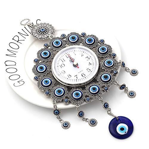WXQY Nazar Boncuk met horloge (met blauwe stenen) blauwe ogen van Turkse geluksbrengers tegen de kwaaglijke blikvanger/voor apartkantoor/ramen/wand/deurkozijnen etc.