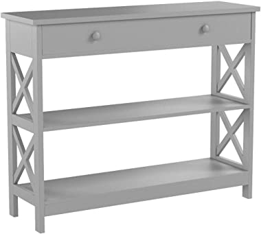Convenience Concepts Oxford 1 Drawer Console Table, Gray