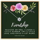 KEDRIAN Friendship Necklace, 925 Sterling Silver, Best Friend Necklaces, Friendship Gifts for Women, Bestfriend Birthday...
