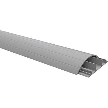 Habengut Fußboden Kabelführung Aus Pvc Grau Halbrunde Kabelbrücke Für Bis Zu 3 Kabel Breite 7 5 Cm Länge 1 5 M Baumarkt