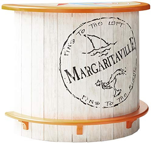 Margaritaville Indoor/Outdoor Half Moon Wood Bar - Fins to The Left