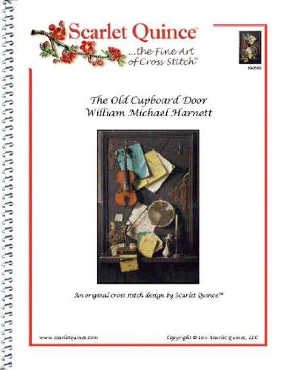 Scarlet Quince HAR005 The Old Cupboard Door by William Michael Harnett Counted Cross Stitch Chart, Regular Size Symbols