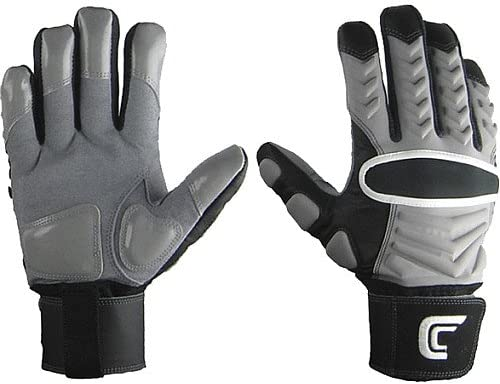 Cutters The Reinforcer Football Gloves (Gray, Large)