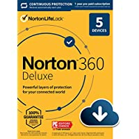 Norton 360 Deluxe 2021 Antivirus Software For 5 Devices With Auto Renewal