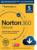 Norton 360 Deluxe – Antivirus software for 5 Devices with Auto Renewal - Includes VPN, PC Clo…