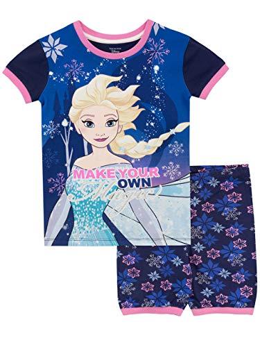 Disney Mädchen Frozen - Die Eiskönigin Schlafanzug Blau 104
