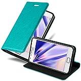 Cadorabo Custodia Libro per Samsung Galaxy S2 / S2 Plus in Turchese Petrolio - con Vani di Carte, Funzione Stand e Chiusura Magnetica - Portafoglio Cover Case Wallet Book Etui Protezione