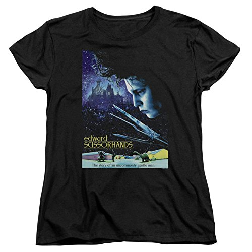 Edward Scissorhands - Frauen Poster T-Shirt, Medium, Black