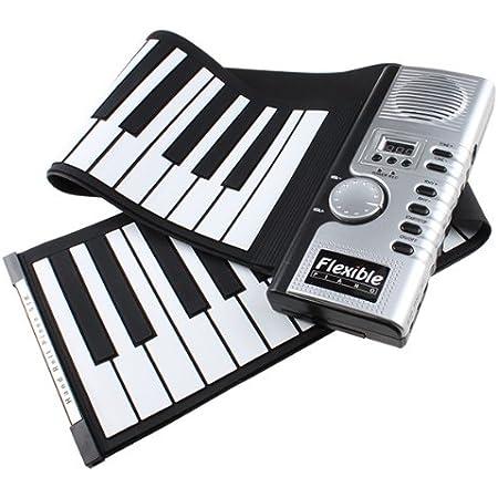 IMAGE - Teclado digital electrónico plegable con 61 teclas MIDI para regalo de Navidad