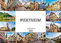 Wertheim Impressionen (Tischkalender 2022 DIN A5 quer): Zwoelf wunderschoene Bilder der Stadt Wertheim (Monatskalender, 14 Seiten )