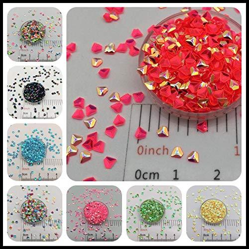 30 g/partij 3 mm 3D Diamond losse pailletten Glitter voor DIY Nail Craft, slijm maken, bruiloft decoratie confetti groothandel, zilver n rood, 30 g