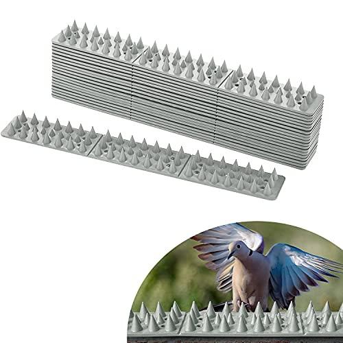 20 Stück Vogelabwehr 6 Meter Plastik Grau Spatzenabwehr Vogel Spikes Taubenabwehr Birds Spikes Haus-Wildtierabwehr