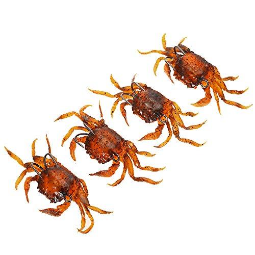 Lixa-da 3 PCS 10cm 30g Soft Fishing Lures Crab Artificial Bait Soft Fish Bait with Sharp Hook