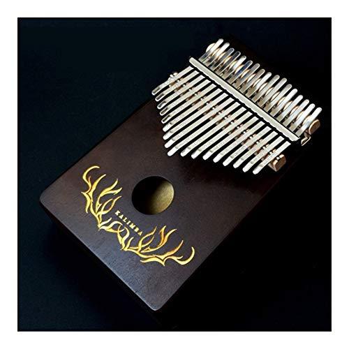 SADDPA Daumenklavier, Kalimba 17 Keys Daumenklavier Tragbares 17 Schlüssel Musik-Tastatur-Musikinstrument Hochwertige Mahagoni Finger Klavier (Color : Deep Totem)